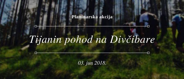 Najava akcije: Tijanin pohod na Divčibare